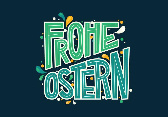 Tipografia Frohe Ostern