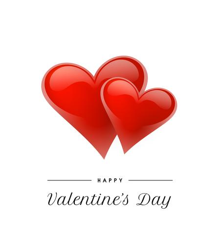 Valentinstaghintergrund mit realistischen Herzen. Vektor-Illustration Nette Liebesfahne oder Grußkarte