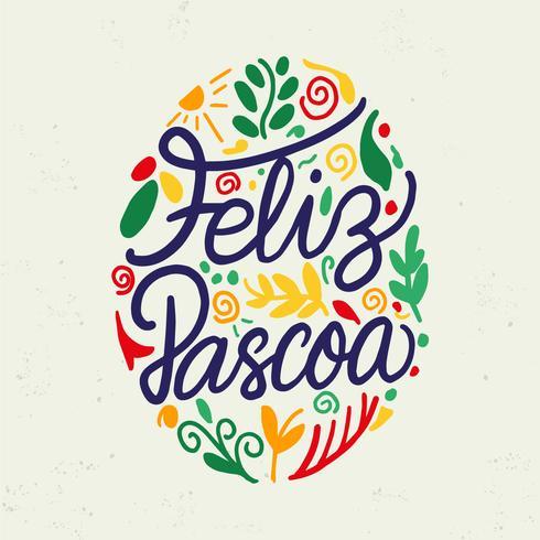 Feliz Pascoa Typography