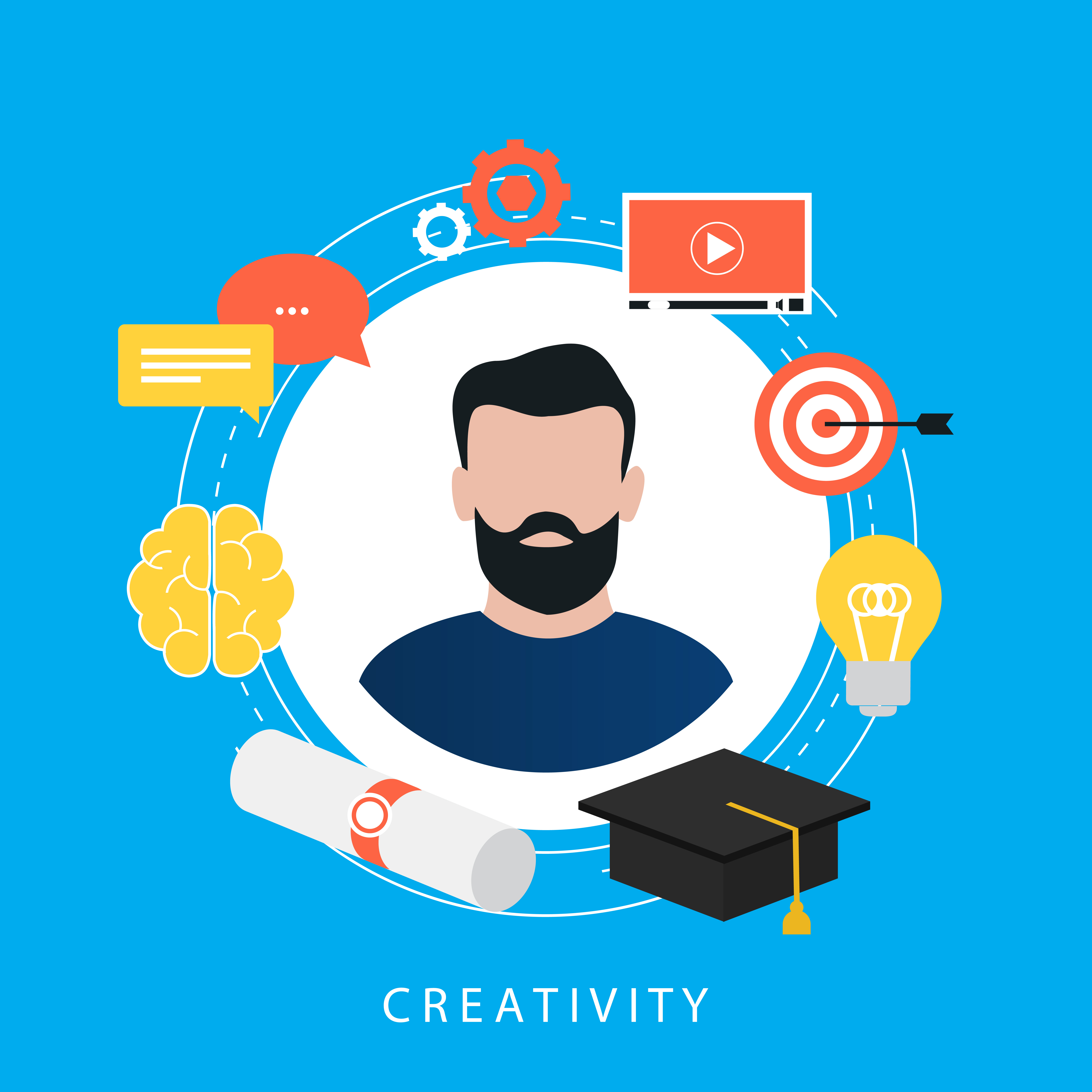 Vector Illustration Web Designs: Education, E-learning, Online Courses, Tutorials, Online