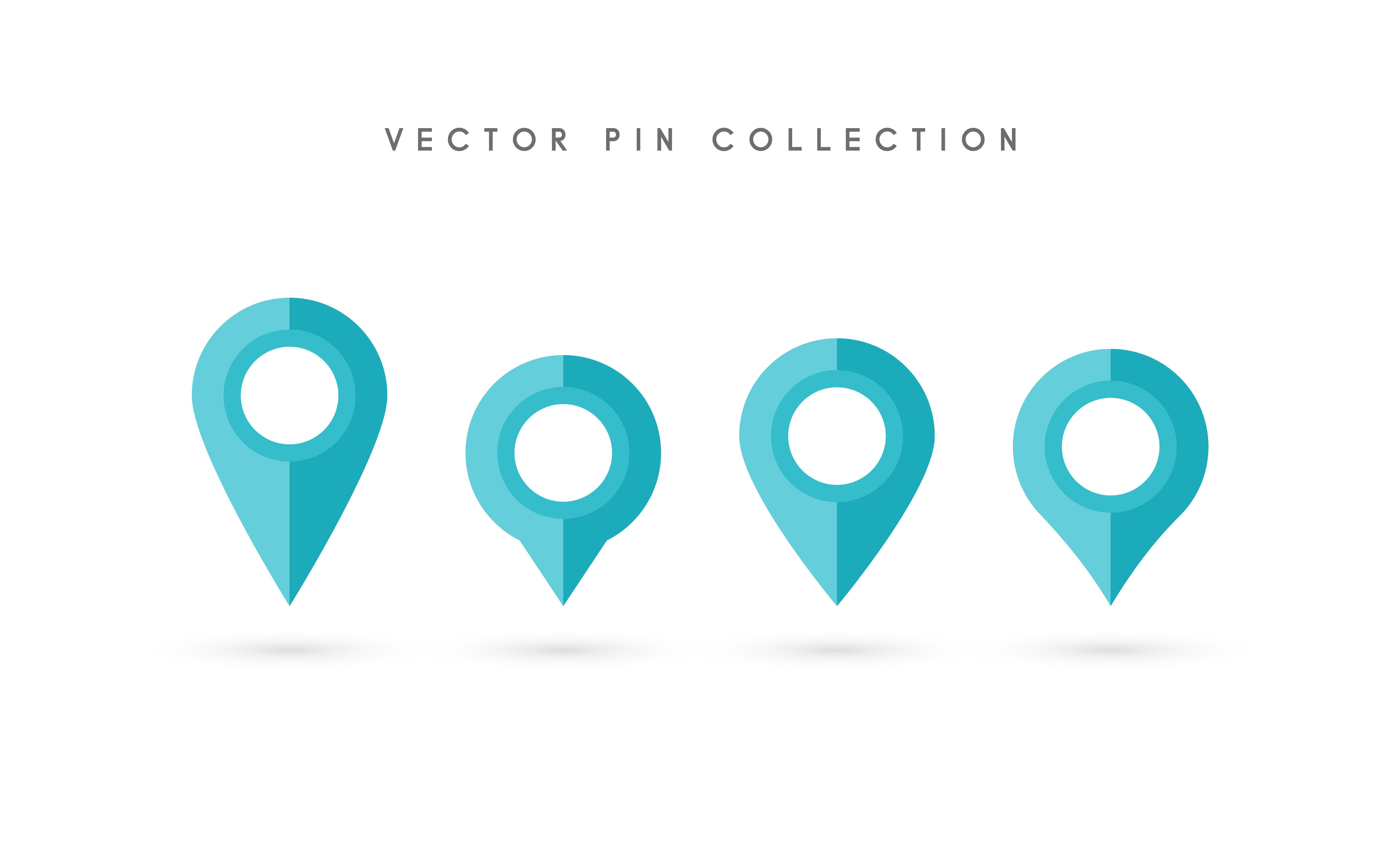 Pasador Ubicación Mapa Gráficos Vectoriales Gratis En: Pin De Ubicación. Diseño Plano Del Vector Del Icono Del