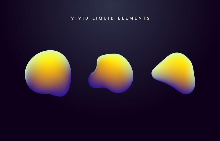 Gradient livliga former. Modern abstrakt färgrik vektor vätskesamling.