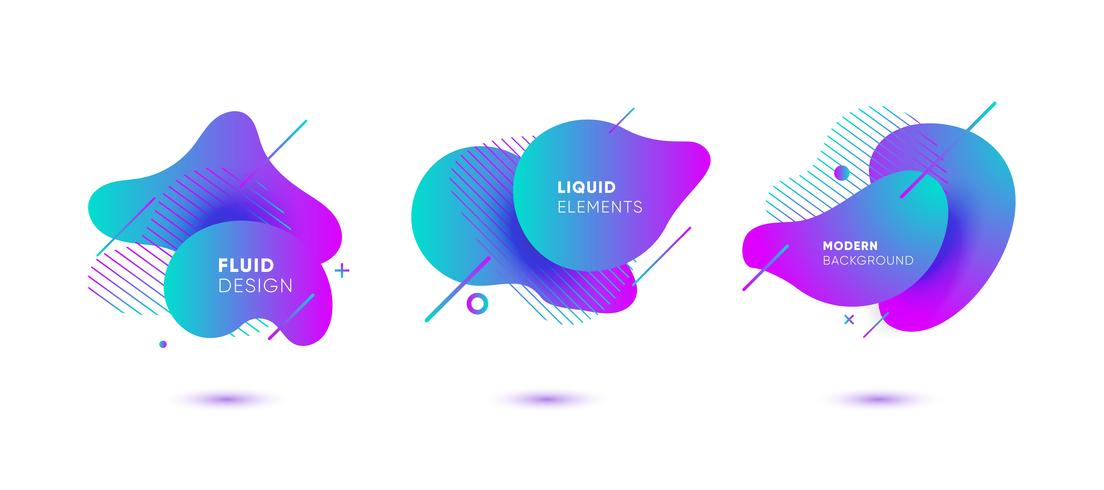 Dynamical colored graphic elements vector