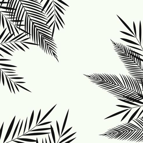 Exotic leaves seamless pattern background. Tropical poster design vector
