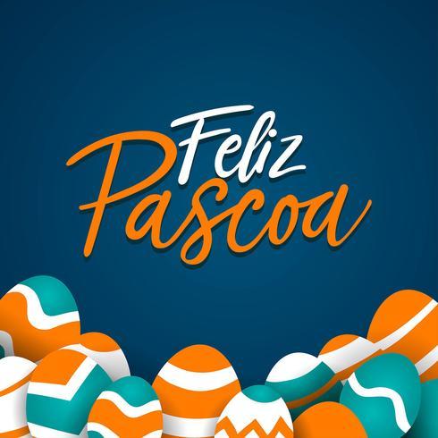 Vorlage von Feliz Pascoa Typografie