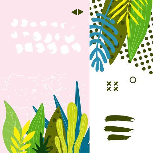 Fondo de hojas de selva tropical
