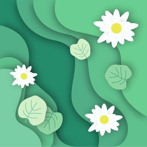 Lotus am See Draufsicht