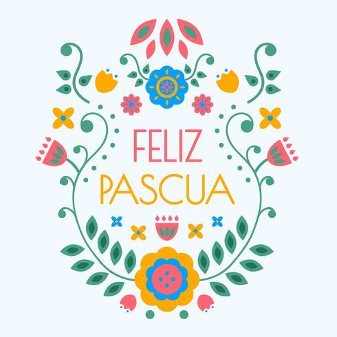 Tipografia Feliz Pascua Vector