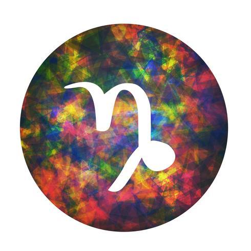 Un signo zodiacal de capricornio, ilustración vectorial vector