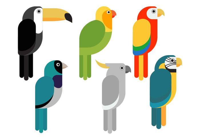 Vogel Clipart instellen vectorillustratie