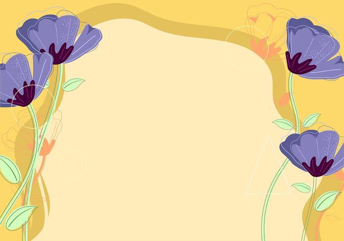 Fondo de la flor vector