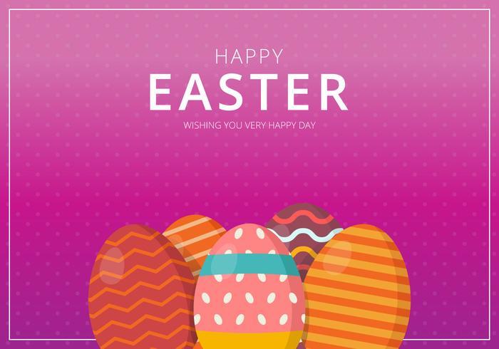 Backdground De Easter. Feliz Páscoa. vetor