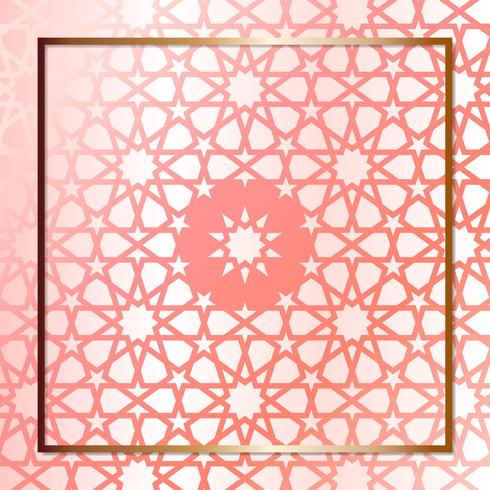 Modern Rose Gold Geometric Design Template
