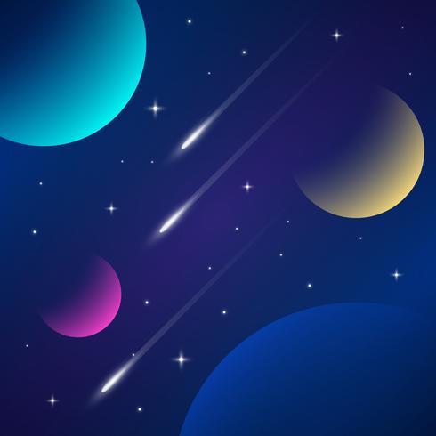 Fondo de galaxia espacial vector