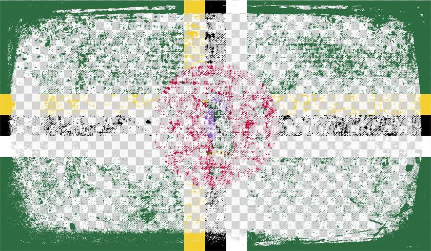 Bandera de estilo grunge, ilustración vectorial