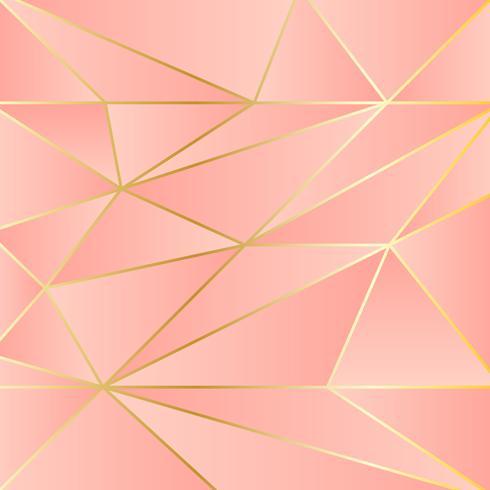 Fondo geométrico de triángulos poligonales metálicos de cobre