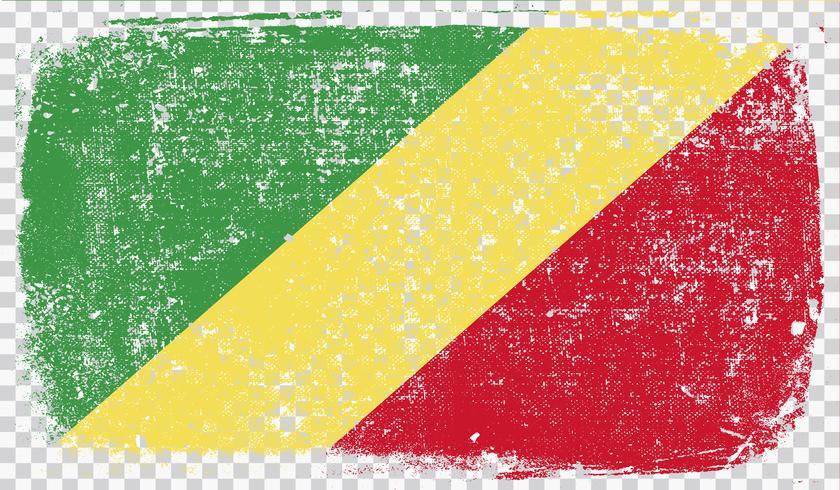 Bandeira de estilo grunge, ilustração vetorial