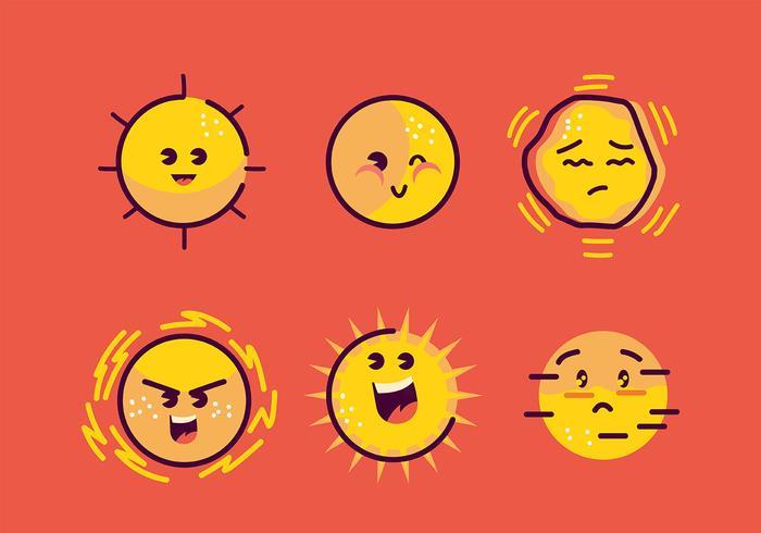 Clipart de sol vetor