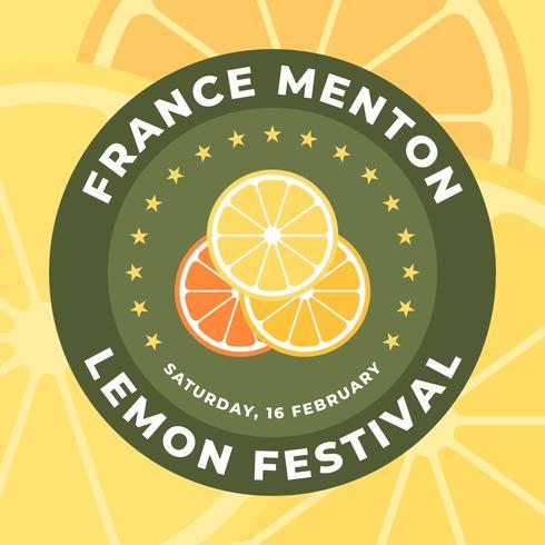 Menton Frankrijk Lemon Festival Badge Design