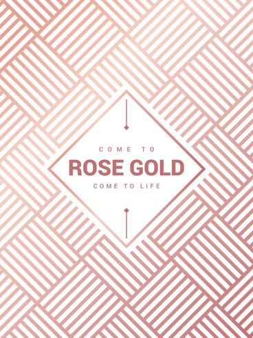 Incrível Rose Gold Background Vector