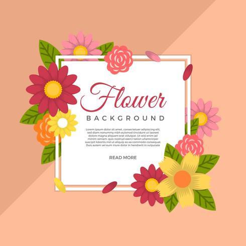 Flat Flower Vector Background Template