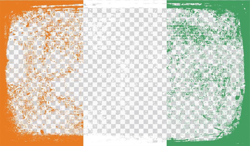 Grunge-styled flag, vector illustration