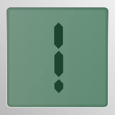 Tipo de letra del conjunto de caracteres digitales en una pantalla, ilustración vectorial vector