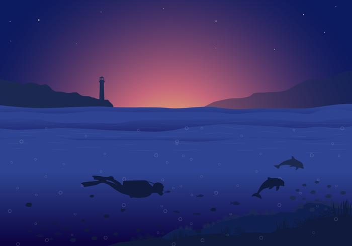 Ocean Background in Vector - Download Free Vector Art, Stock Graphics & Images