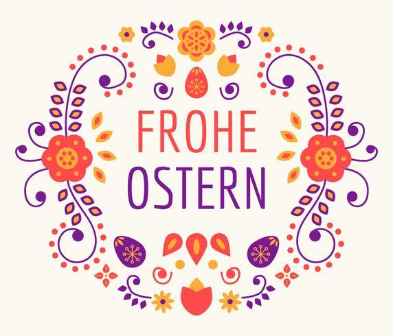 Vetor De Tipografia Frohe Osstern