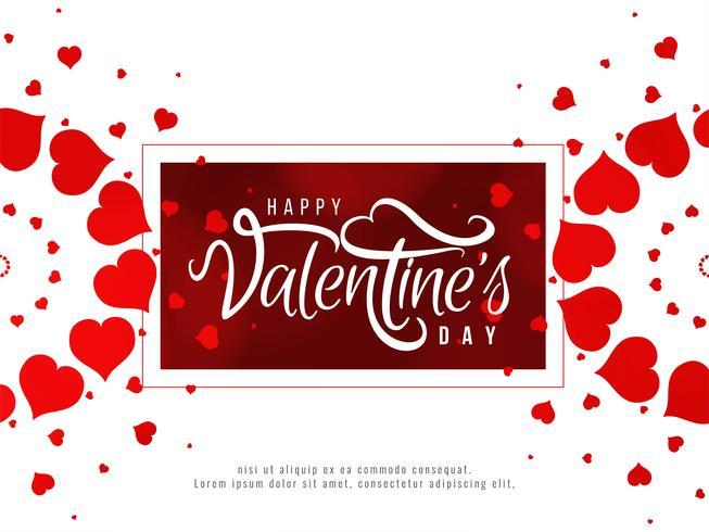 Contexte romantique heureuse Saint Valentin vecteur