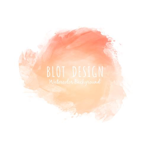 Abstract colorful watercolor blot design background vector