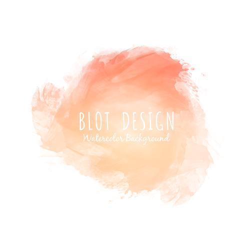 Fondo de diseño de blot acuarela abstracta colorida