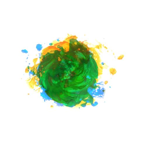 Abstract elegant colorful watercolor stain background