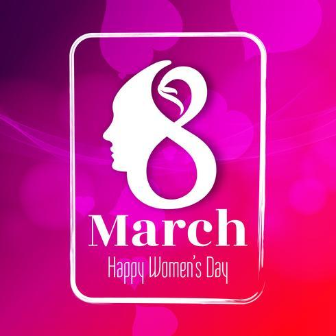 Abstract mooi Gelukkige de Dag van achtergrond vrouwen ontwerp
