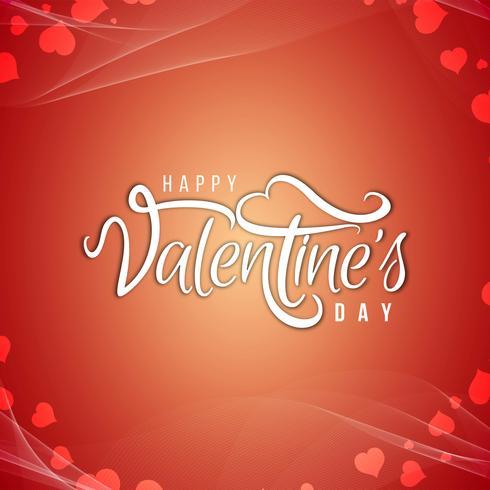 Felice giorno di San Valentino bella carta di sfondo