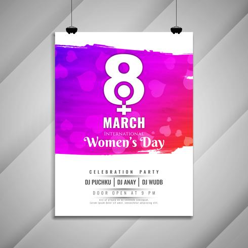 Abstract elegant Women's day celebration party invitation card template vector