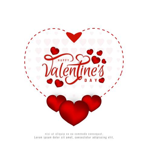 Happy Valentine's Day beautiful card background vector