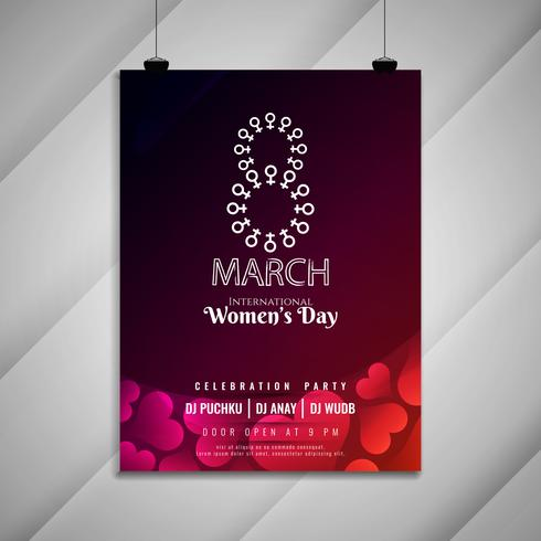 Abstrait élégant modèle de carte invitation fête des femmes jour