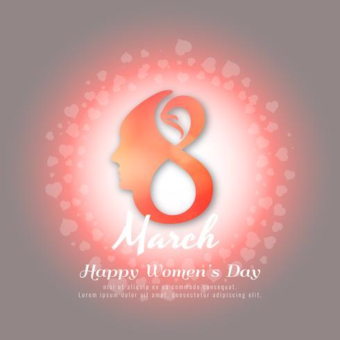 Projeto de fundo abstrato elegante feliz dia das mulheres