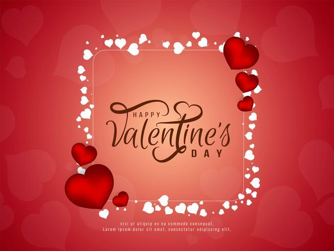 Lycklig Alla hjärtans dag elegant bakgrundsdesign