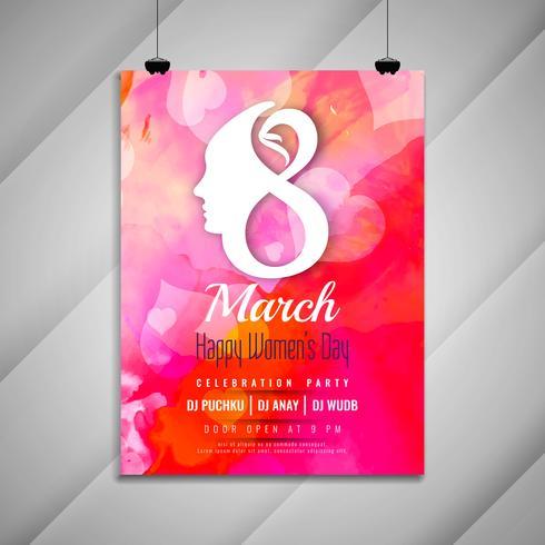 Abstracte vrouwen dag viering partij prachtige uitnodiging kaartsjabloon