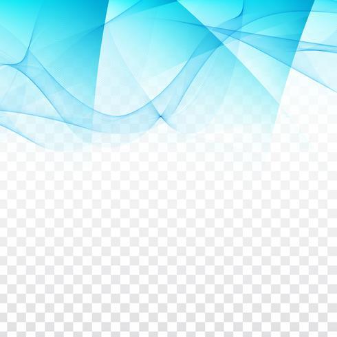 Diseño geométrico ondulado abstracto sobre fondo transparente