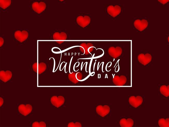Diseño elegante del fondo del día de tarjeta del día de San Valentín feliz