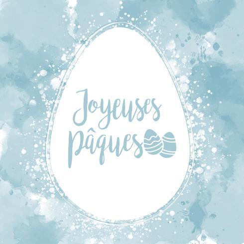 Vektor Joyeuses Pâques Hintergrund