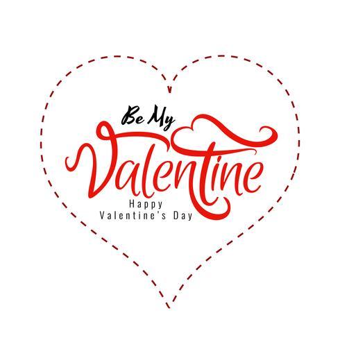 Stilvoller glücklicher Valentinstaghintergrund