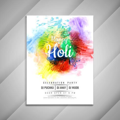 Plantilla de diseño de volante de celebración feliz Holi feliz con estilo