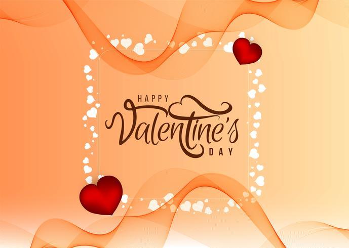 Beau fond d'amour de bonne Saint-Valentin