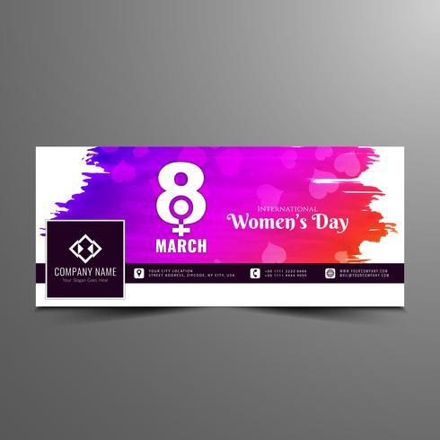 Abstracte moderne de bannersjabloon van de dag facebook van Vrouwen vector