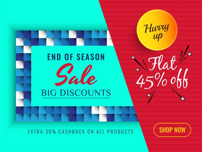 Abstract sale offer colorful background vector