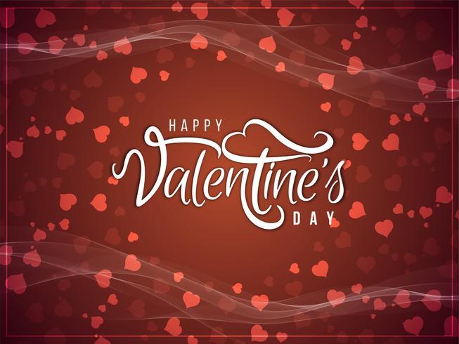 Abstract Happy Valentine's Day elegant background